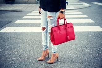 bag pink bag style