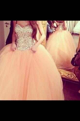 prom dress dress sparkles princess dress