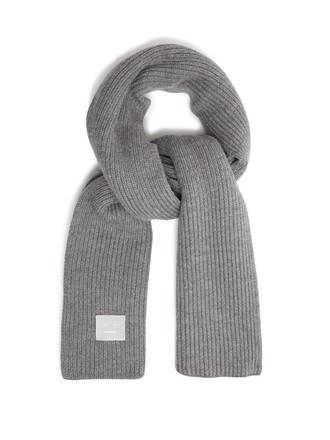 scarf wool grey