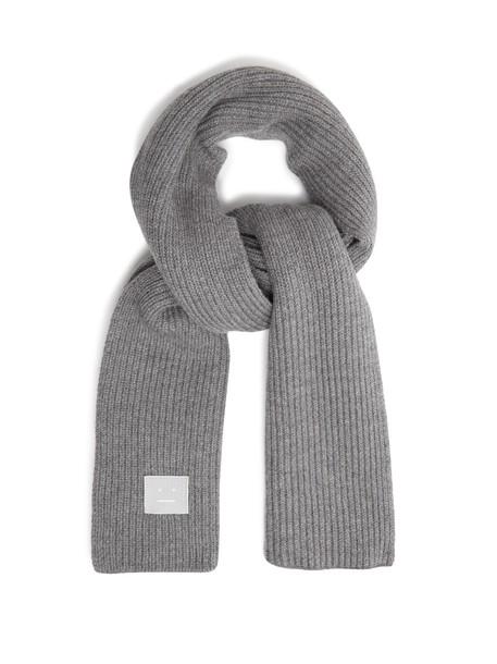 Acne Studios scarf wool grey