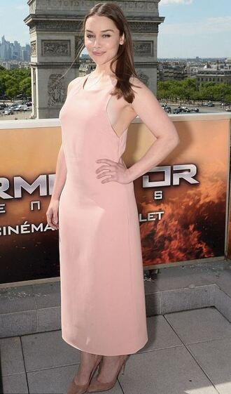 dress maxi dress nude dress nude emilia clarke summer dress