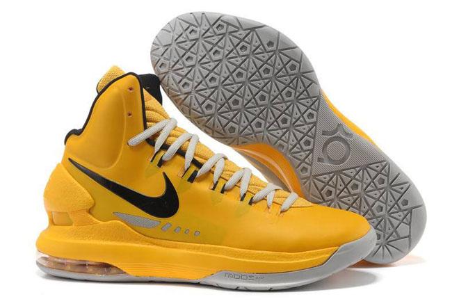 Nike Zoom KD V Yellow Black Grey Nike Men's Shoes