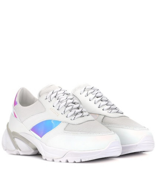 Axel Arigato Tech Runner leather sneakers in white