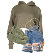 sweater,army green,cropped sweater