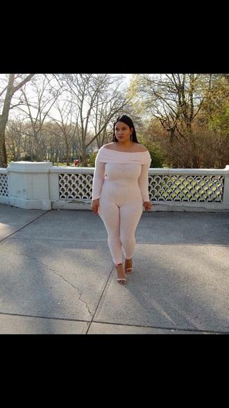 jumpsuit curvy nude