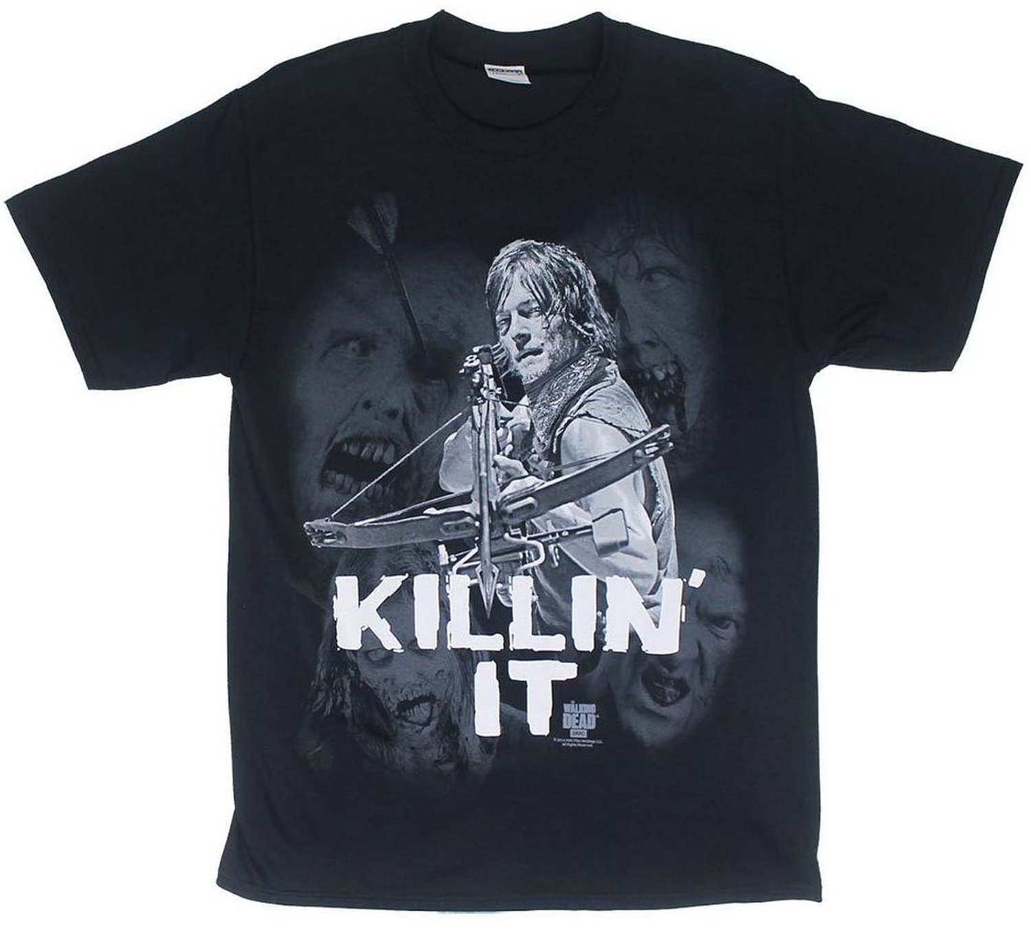 Amazon.com: The Walking Dead Daryl Killin It Mens Black T-Shirt: Clothing