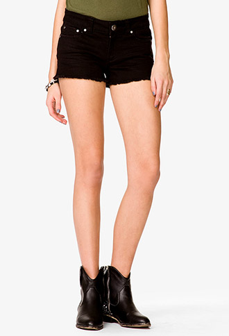 Distressed Denim Shorts | FOREVER 21 - 2036583558