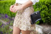 skirt,gold,sequin skirt,glitter golden skirt
