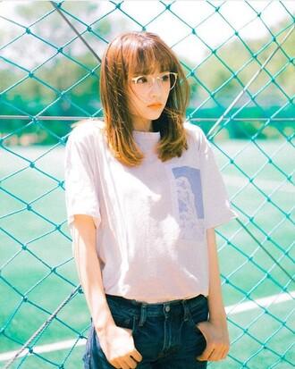 shirt clouds pink cute korean fashion cute shirt asian pink shirt cloud shirt super cute t-shirt