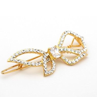 Korean newly rhinestone bowknot crystal hair pins