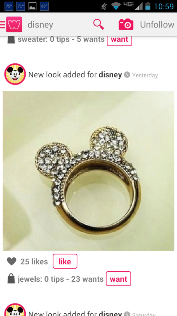 jewels disney mickey mouse