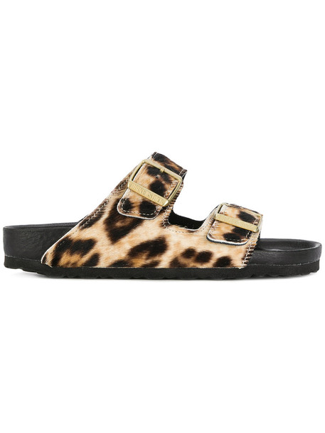 Birkenstock fur women animal sandals leather nude print animal print shoes