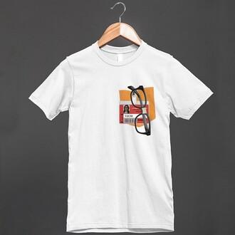 shirt alex vause orange is the new black oitnb dandelion prison badge orange bandage glasses lgbt pocket print pocket gay pride