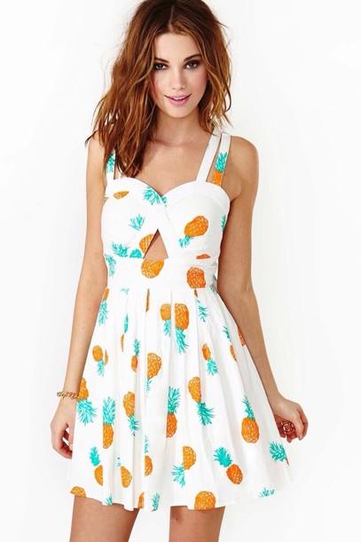 dress pineapple mini dress