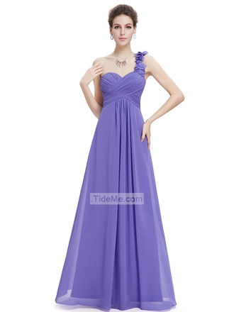 dress prom dress one shoulder dresses purple dress chiffon dress