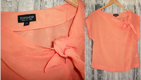 salmon blouse crop tops topshop