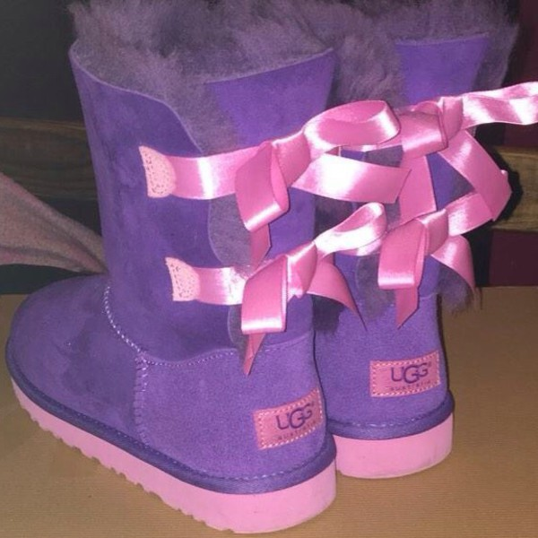 UGG Australia Bailey Bow in PurplePink for Girls in Size 3 ...