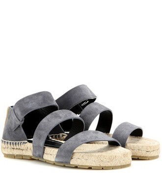sandals suede grey shoes