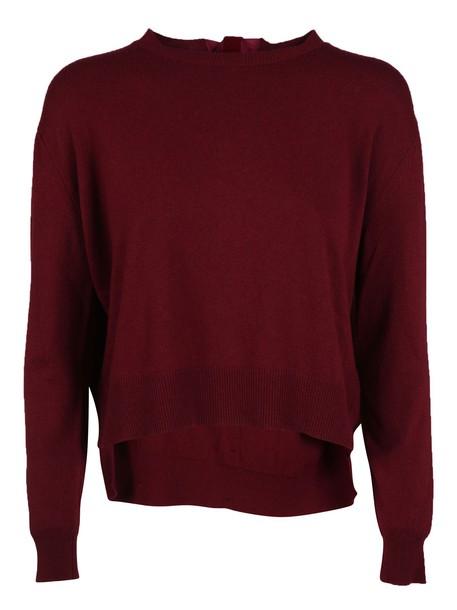 Blugirl sweater bow red