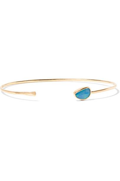 Melissa Joy Manning cuff opal gold jewels