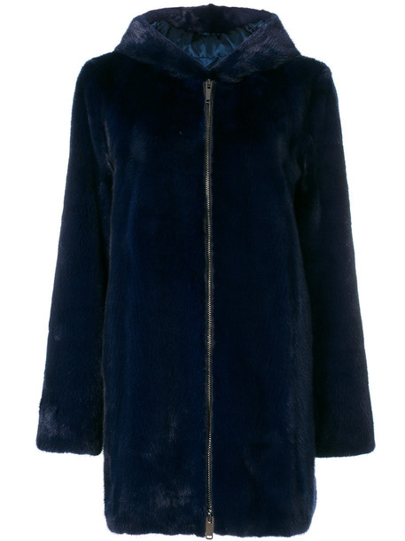 Liska coat fur coat fur women blue
