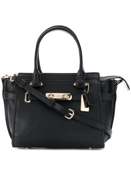 coach mini women leather blue bag