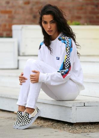 sweat the style sweater jeans shoes sportswear
