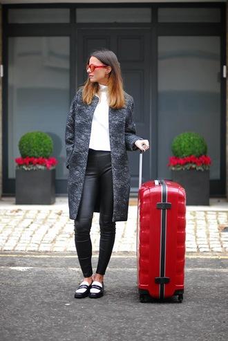fashion vibe shoes sunglasses pants coat t-shirt