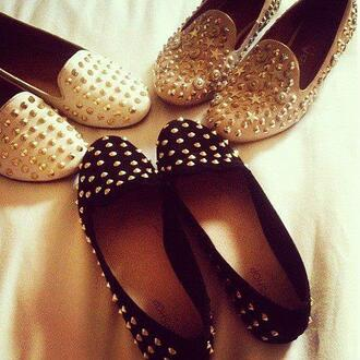 shoes loafers studs smoking slippers