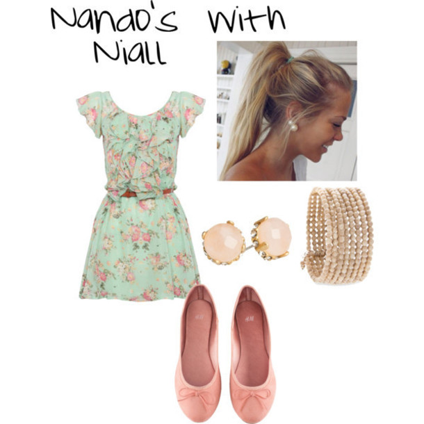 niall horan one direction floral dress ballet flats