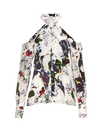 top print silk white