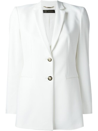 blazer classic white jacket