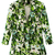 Green Leaf And Floral Print Lapel Blazer - Choies.com