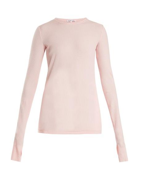 Helmut Lang top cotton knit light pink light pink
