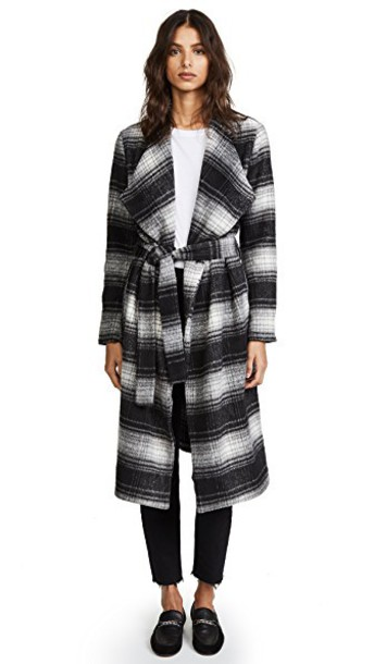 BB Dakota coat plaid black