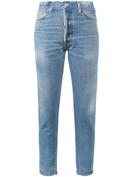 Re/Done jeans cropped jeans cropped high women cotton blue