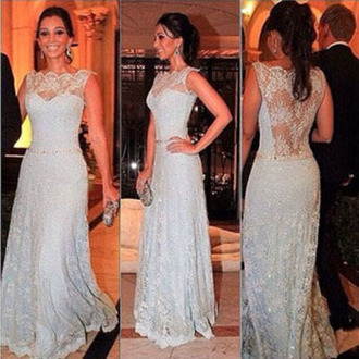 dress lace elegant silver romantic prom fashion gown gorgeous vanessawu