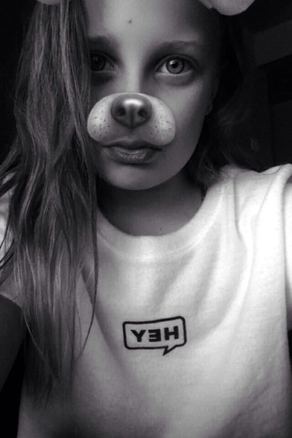 shirt white hey cute tumblr adorable af adorable outfit dog