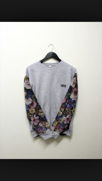 sweater jumper floral casual menswear woman's