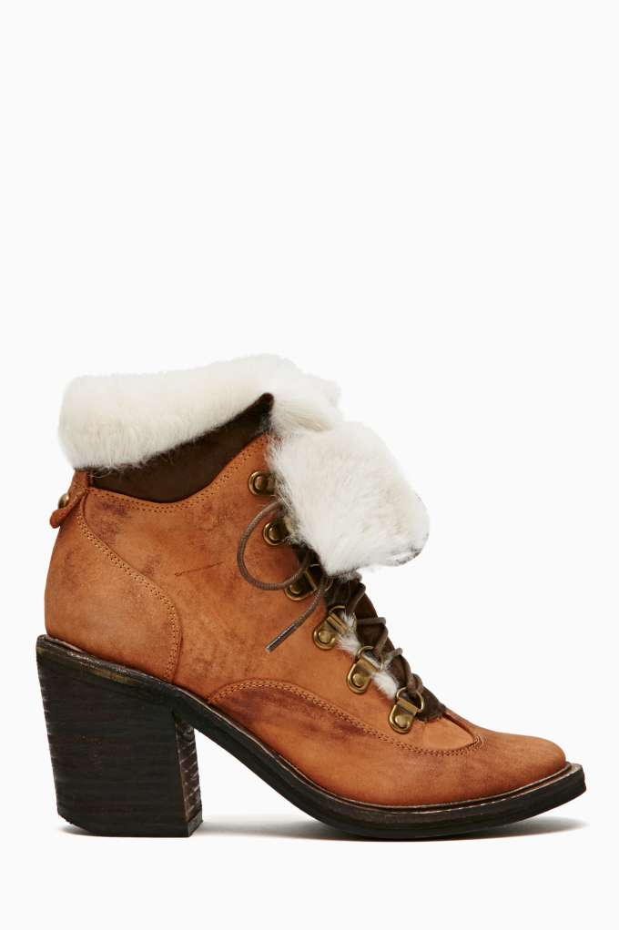 Jeffrey Campbell Berle Shearling Boot in  Shoes at Nasty Gal