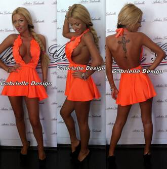 dress backless black white lace summer dress cute prom backless dress sexy pink short dress yellow spring 2014 prom dresses floral summer outfits cool orange all cute 2014 orange dress grily all cute outfits v neck dress v neck deep v neck dress instagram fashion tumblr fashion