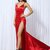 satin split leg maxi gown