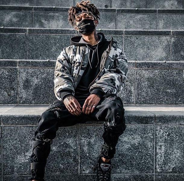 jacket, monochrome, scarlxrd, bomber jacket, rapper ...