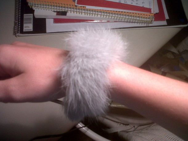 jewels bracelets fur grey