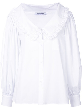 blouse women spandex white cotton top