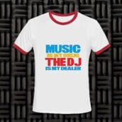 t-shirt,imgeee,music,music is my drug the dj is my dealer t-shirt,music t,party shirt