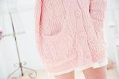 pastel pink,bottons,cardigan