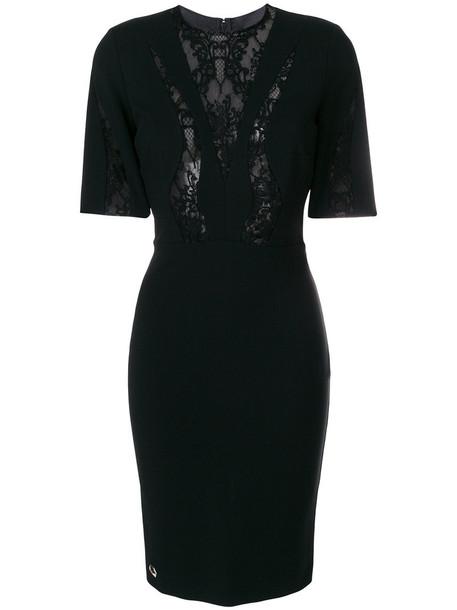 PHILIPP PLEIN dress women lace cotton black