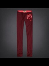 pants,hollister,sweatpants,burgundy,skinny,women,bettys,red,betty