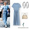 Selena gomez wears stylish blue crop top dress in new york